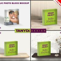 Acrylic Photo Block 8x8 PSD Styled Mockup by TanyDiArtDesign