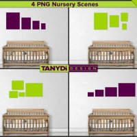 Wall Display Guide PSD Mockup Nursery Interior Wood Crib