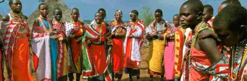 Ethnie Masaï dans le Serengeti Tanzanie