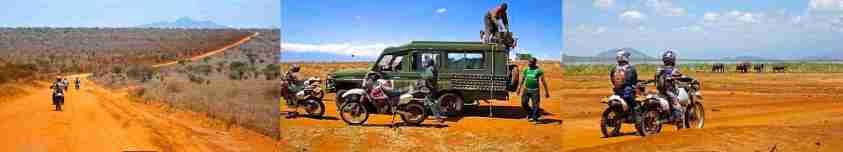 Moto safari en Tanzanie