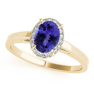 Oval Tanzanite Ring With Diamonds