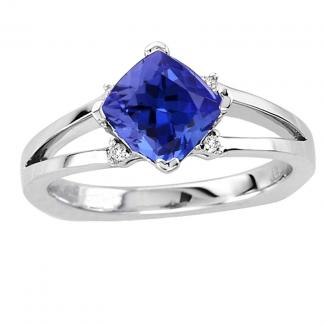 Sterling Silver Tanzanite Wedding Ring