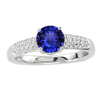 Round Tanzanite Wedding Ring