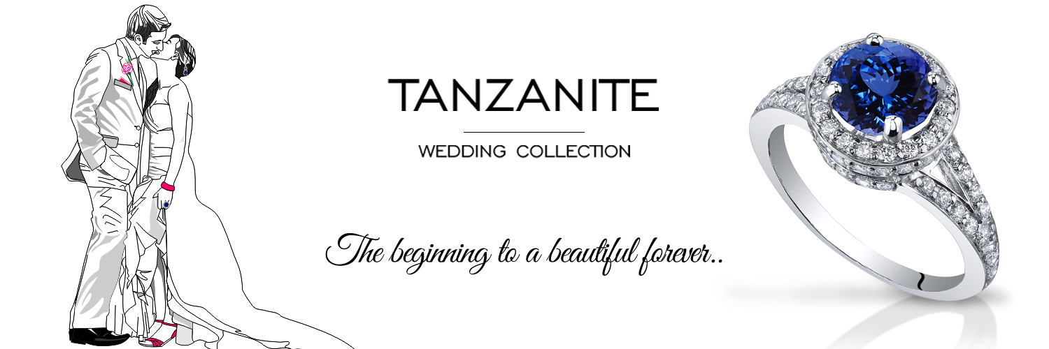 The Marriage Of Engagement And Wedding Rings Tanzanite Wedding Ring