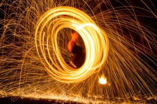 Funkeneffekt für Feuershows