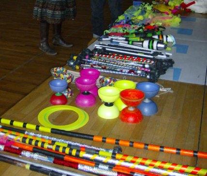 Jonglage Workshop - verschiedene Spielgeräte