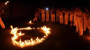 Bodenfeuer-Herz für Feuershows * Geburtstag oder Hochzeit