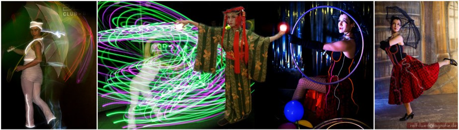 LUNATIC DREAMS - Licht-Walk-Act mit Lichtkostümen und Lichtrequisiten, Jonglage, Tanz, Interaktion, Schauspiel