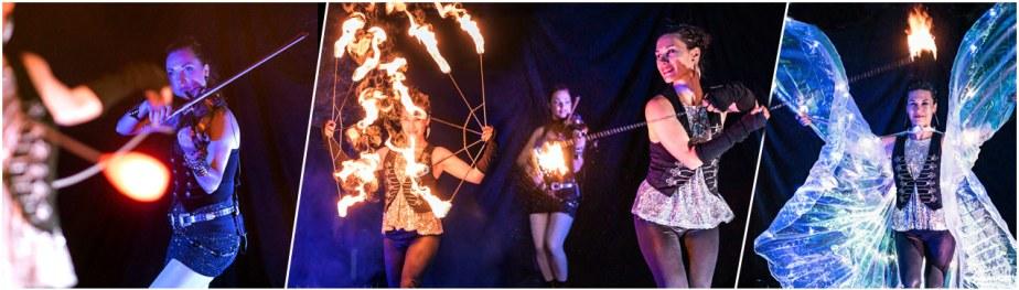 Violinen-, Feuer- und Lichtshow von #Ma*Ke//Art - der Violinistin Marta Danilkovich und Tanzlicht K - Tanz, Lichtshows und Feuerartistik aus Frankfurt am Main