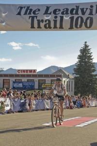 Leadville Trail 100 finish line