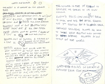 Original note for game that would become Taoex