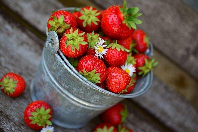 Vegane Erdbeer Biskuitrolle