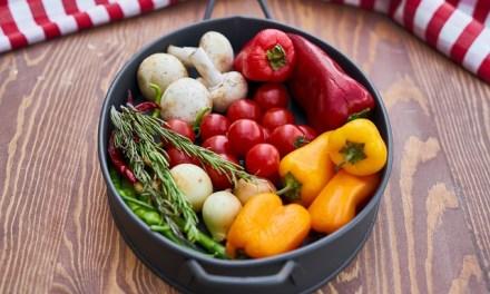 Gebackenes Gemüse mit Kräutercreme