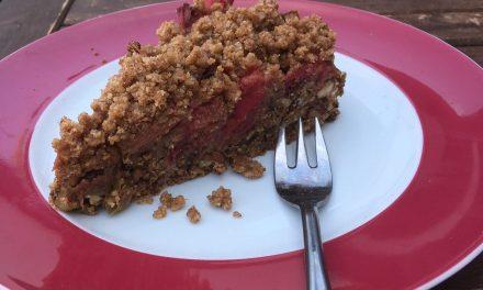 Rhabarber – als Kuchen mit Streuseln belegt (vegan)