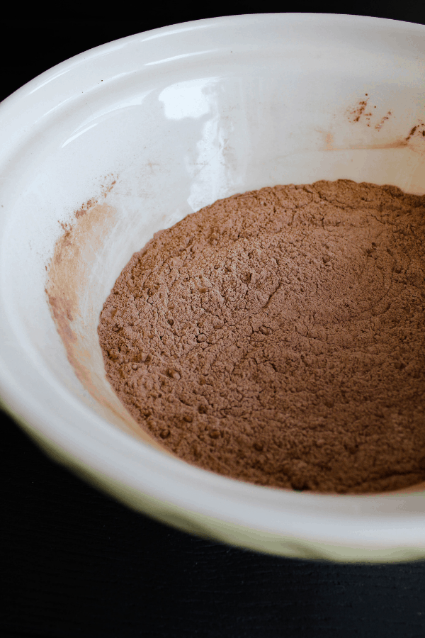 Combined dry ingredients in a bowl.