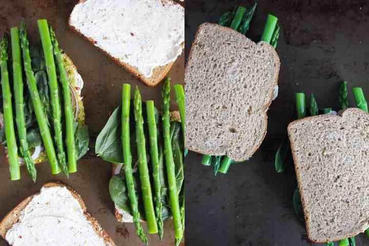 Side by side of sandwich assembly.
