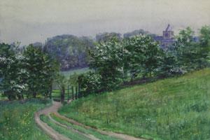"Bert Geer Phillips, Wales, Watercolor on Paper, 15"" x 22"", Collected from Bert Phillips in Taos 1952-53"
