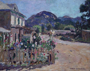 "Charles Berninghaus, Corner at Arroyo Seco, Oil on Canvas Board, 16"" x 20"""