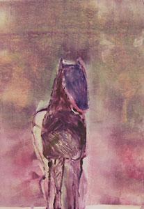 "Fritz Scholder, Dream Horse 2, circa 1985, monotype, 23.5"" x 17.5"""