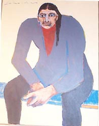 """Fritz Scholder, Untitled, Oil on Canvas, dated 1997, 18"""" x 14"""""""