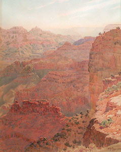 """Gunnar Widforss, Grand Canyon, Watercolor on Paper, 1925, 17"""" x 13"""""""