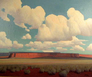 "Harold Buck Weaver, Arizona, Oil on Canvas, 25"" x 30"""