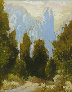"Harry C. Best, Yosemite, Circa 1910, Gouache on Board, 9"" x 7"""