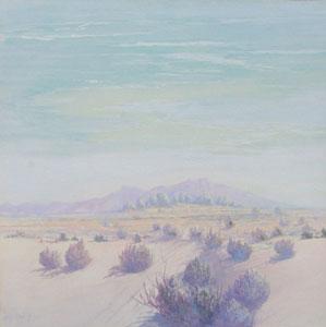"Jack van Ryder, Desert Landscape, Watercolor, 14.5"" x 15.25"""