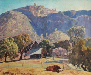 "Lawrence Hosmer, Drowsy October, Oil on Canvas, 19"" x 23.5"""