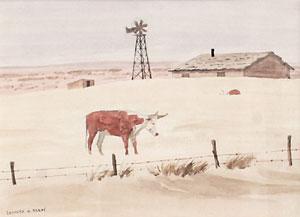"""Leonard Reedy, Desolation, Watercolor, Circa 1930, 8"""" x 11"""""""