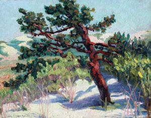 """Lucy Drake Marlow, Arizona Scene, Oil on Board, c. 1918, 13"""" x 18"""""""