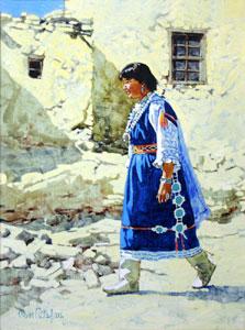 "Ross Stefan, Hopi Maiden, Oil on canvas, 22"" x 16"""