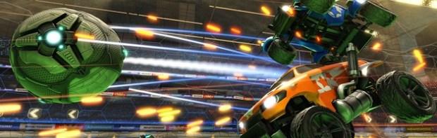 Rocket League car-to-ball action