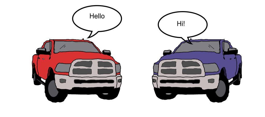 V2V Trucks Talking
