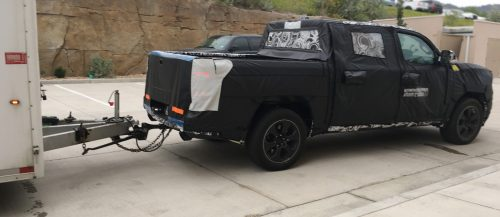 New vehicle under wraps as a testmule
