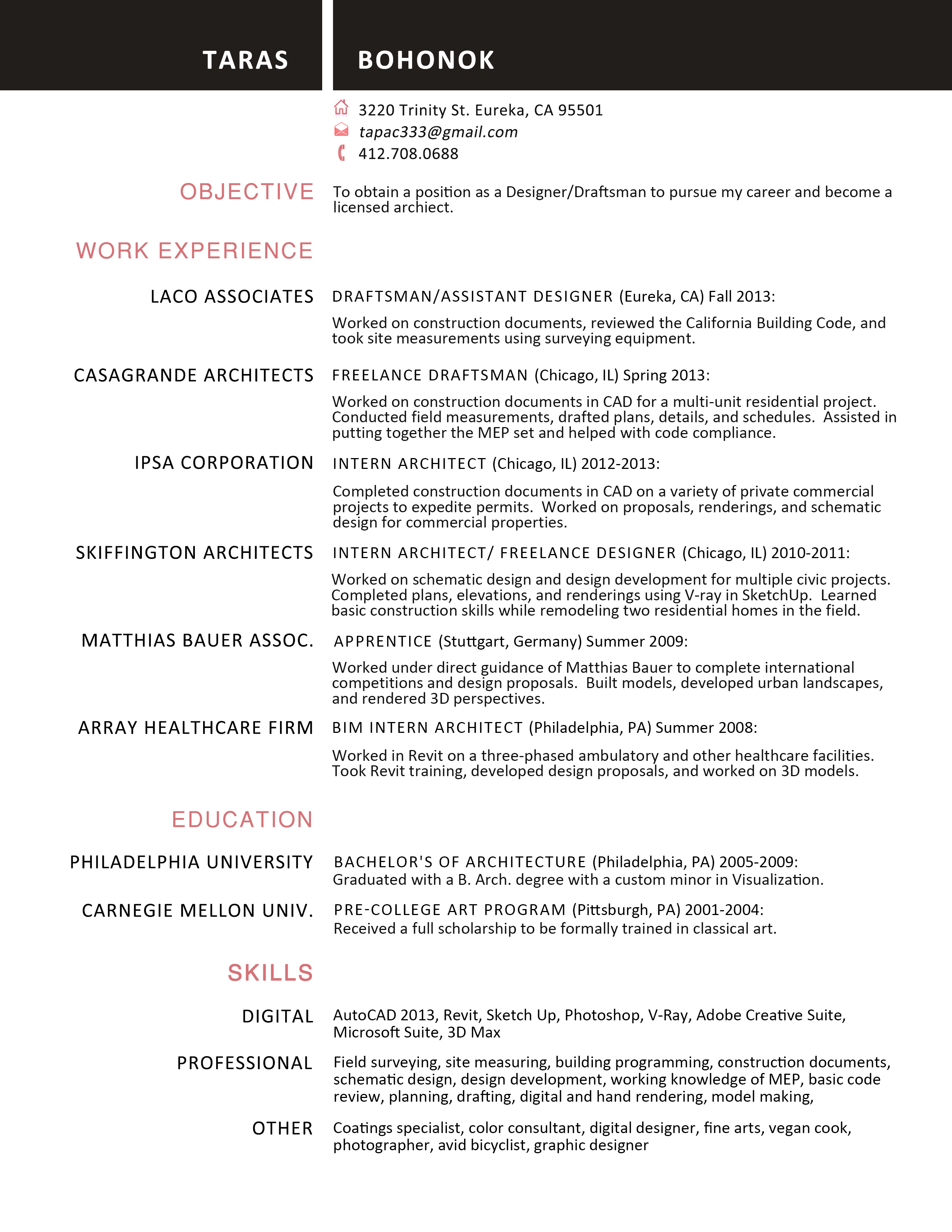 technical design communication sample resume of autocad drafter