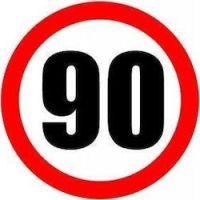 Σήμα ορίου ταχύτητας 90 φορτηγών αυτοκόλλητο