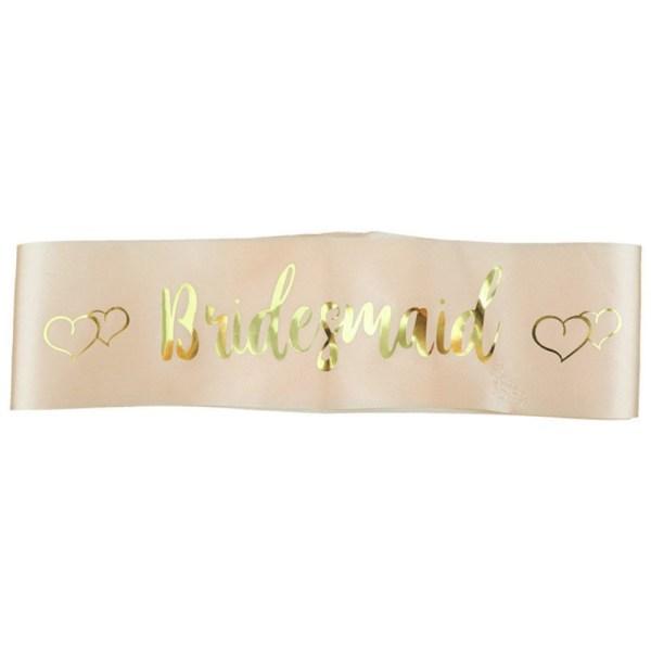 Bridesmaid - Υφασμάτινη κορδέλα για Bachelorette Party