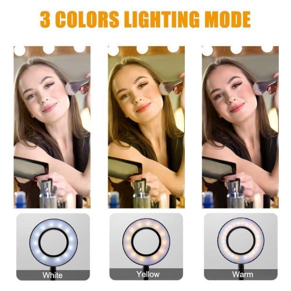 Ring Light 3 in 1 - Φωτιστικό δαχτυλίδι με βάση, βάση κινητού & βάση μικροφώνου -OEM