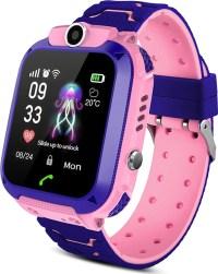 Αδιάβροχο παιδικό ρολόι A28 με gps, κουμπί SOS και ξυπνητήρι- Ροζ