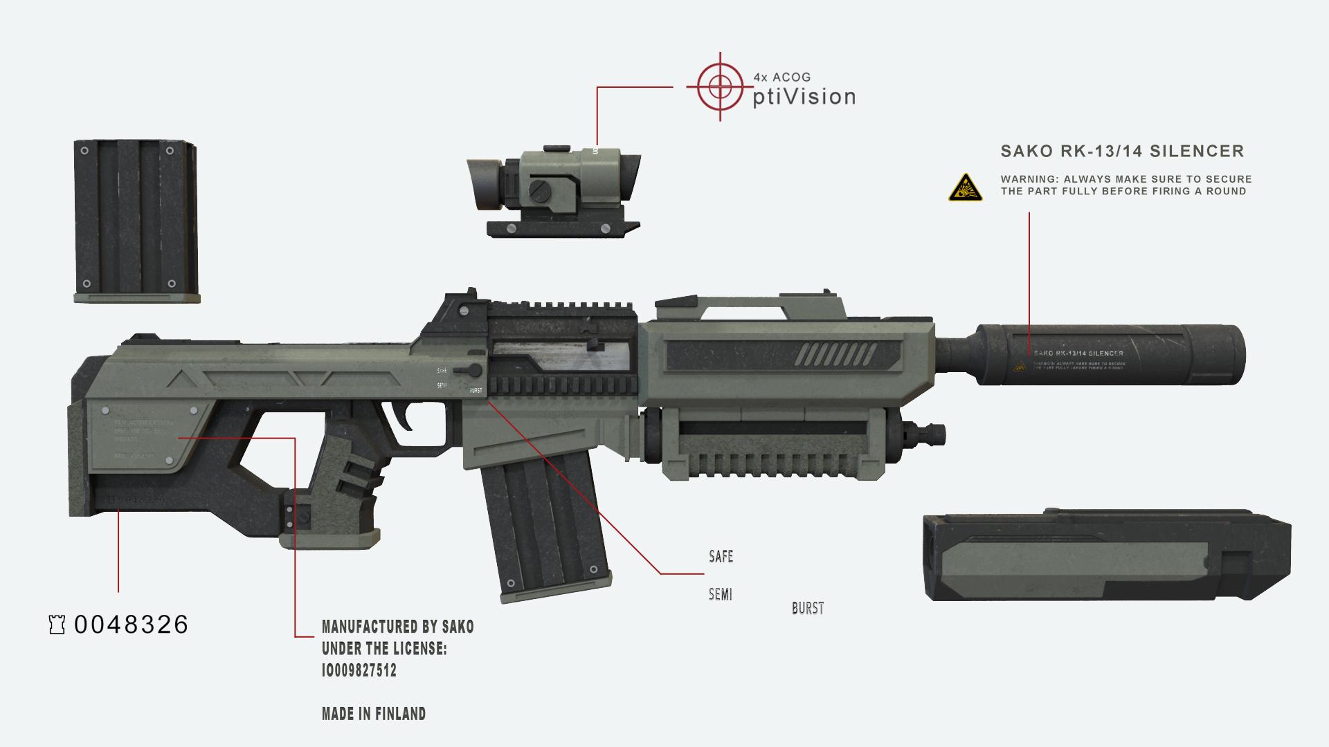 Weapon Design SAKO RK 14 Tapani Heikkinen