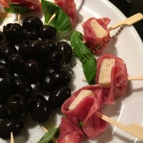 Beef Carpaccio and Parmesan Cheese Brochettes
