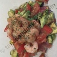 Salad from Smoked Salmon, Shrimps and Avocado (Ensalada de Salmon Ahumado, Gambas y Aguacate)