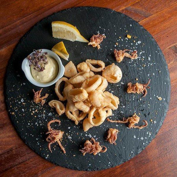 Calamares fritos de potera. Restaurante El Gordo de Velázquez