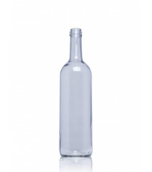 bouteille en verre pour vin modele natura 75 cl transparent