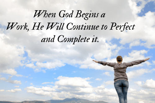 God Completes What He Begins