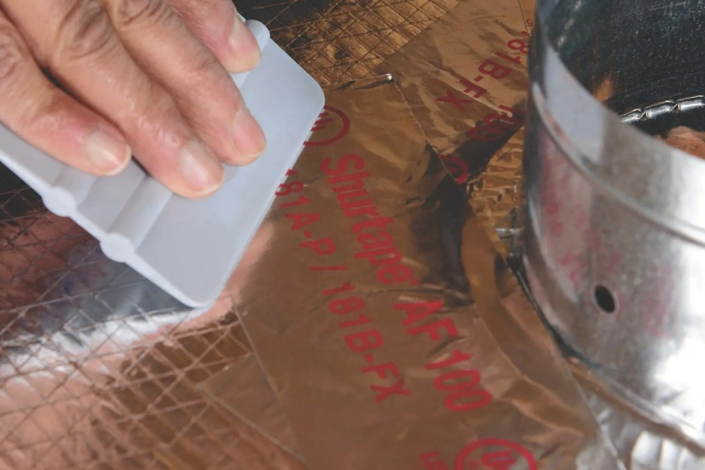 Foil Tape Application with a Squeegee