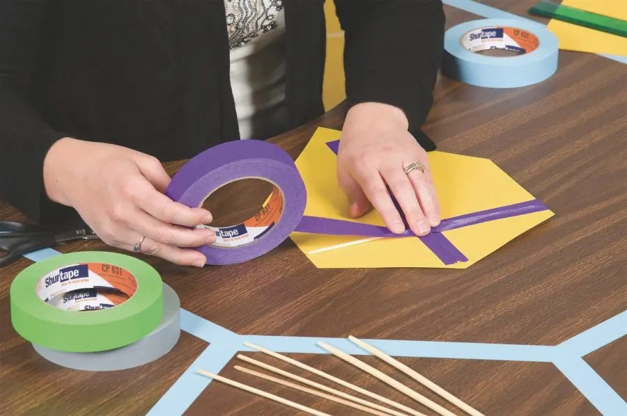 how is colored masking tape used in schools