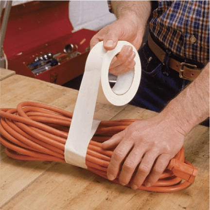 bundling cable with tape