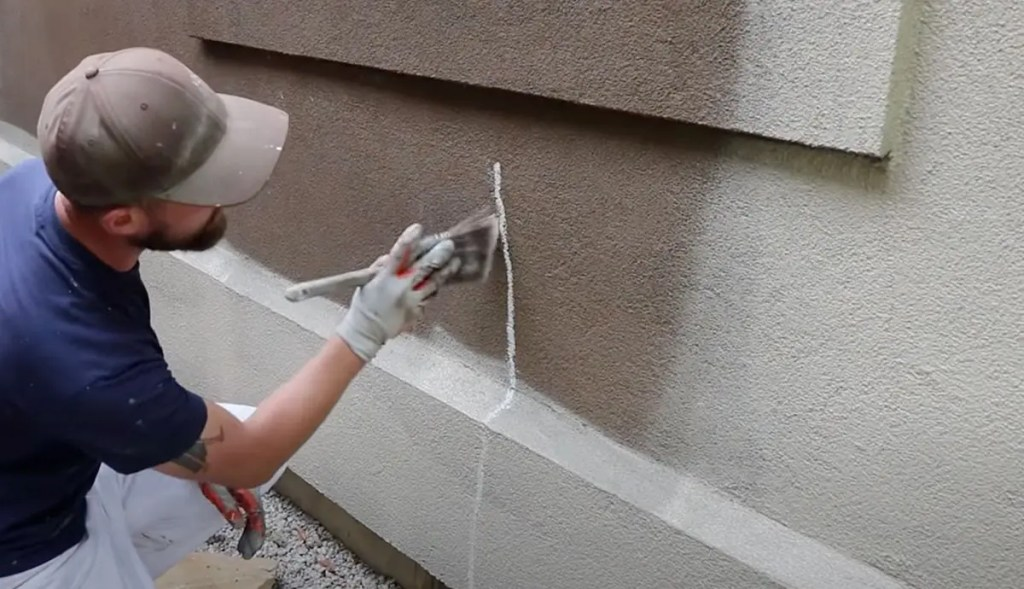 Painting stucco